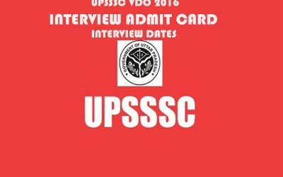 UPSSSC VDO interview schedule 2018 declared